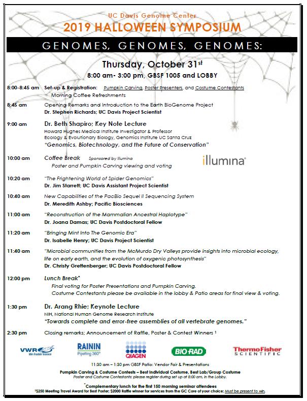 Genome Center Halloween Symposium 2020 2019 Genome Center Halloween Symposium | Microbiome Special