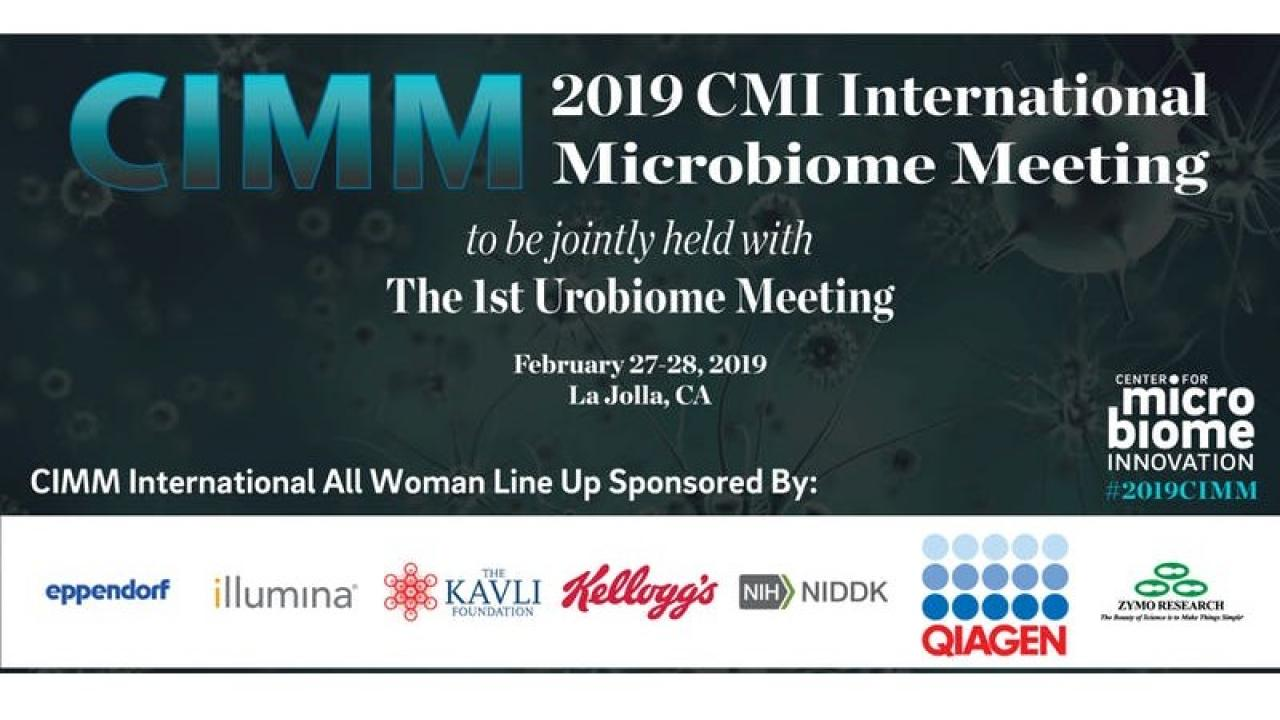 2019 CIMM International Microbiome Meeting